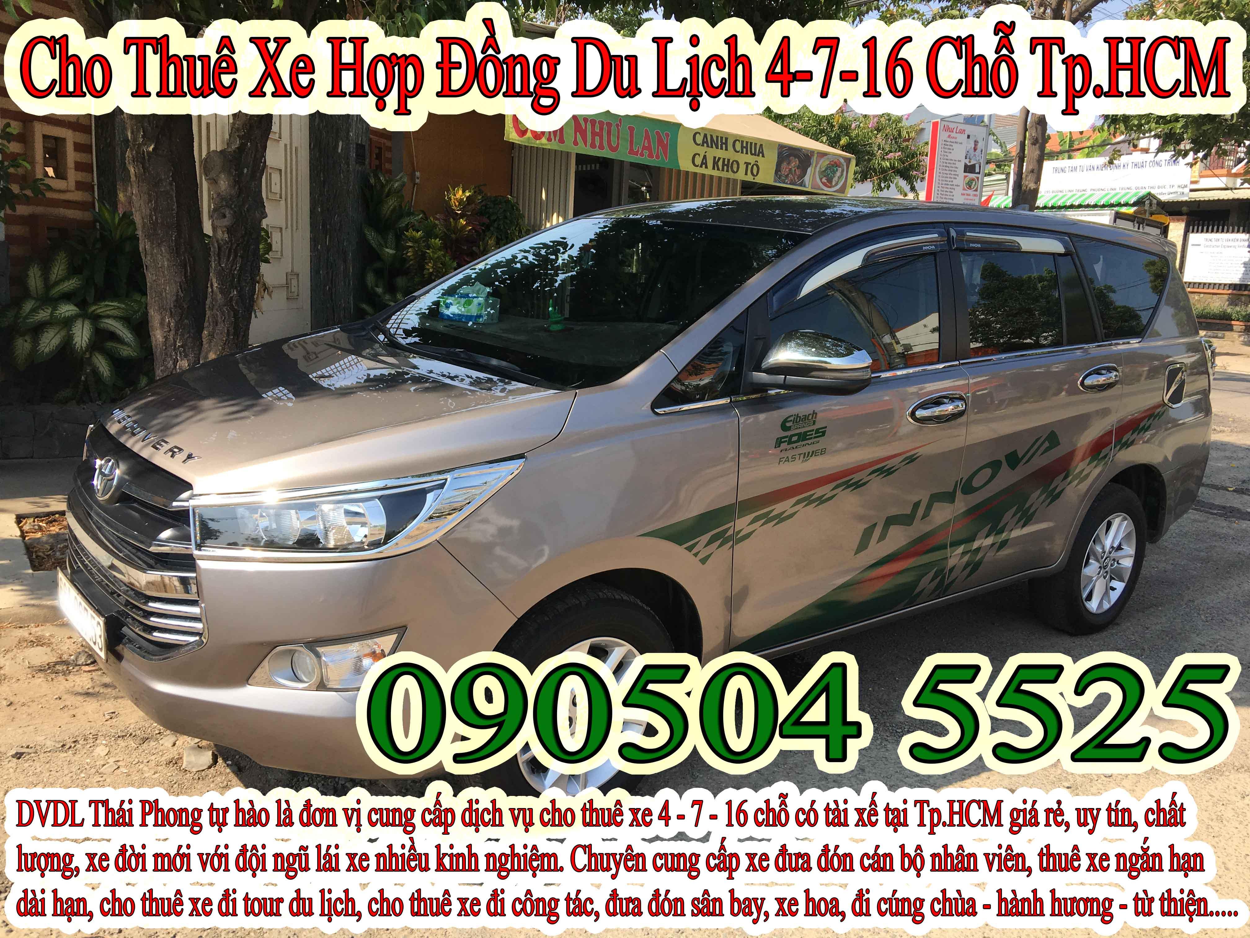 Thuê xe 7 chỗ huyện Hóc Môn